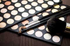 Sombras e escovas de olho Fotos de Stock