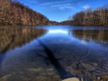 Sombras em The Creek Fotos de Stock