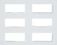 Sombras en blanco del cuadro de texto Foto de archivo