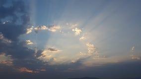 Sombras en el cielo Foto de archivo libre de regalías