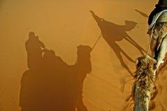 Sombras en el desierto Fotos de archivo libres de regalías