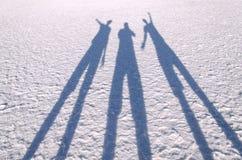 Sombras en la laguna salina San Pedro de Atacama Foto de archivo