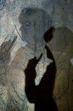 Sombras en la pared Fotografía de archivo libre de regalías