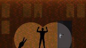 Sombras en la pared de ladrillo Ejemplo del vector, fondo, pared Imagenes de archivo