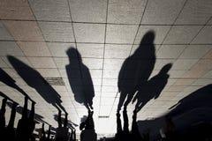 Sombras en la tierra Foto de archivo