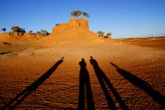 Sombras en Mongolia Fotos de archivo