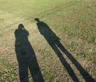 Sombras en un campo Foto de archivo