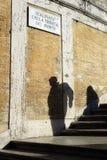 Sombras españolas Roma Italia de los pasos Foto de archivo libre de regalías