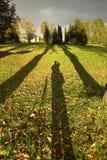 Sombras largas Imagenes de archivo