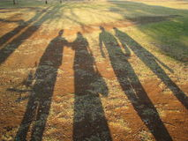 Sombras largas imagen de archivo