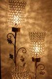 Sombras moldadas pelas lanternas Fotos de Stock Royalty Free
