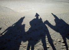 Sombras na areia Fotografia de Stock