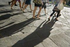 Sombras na cidade Imagem de Stock
