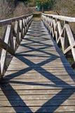 Sombras na ponte Imagem de Stock