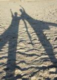 Sombras na praia Imagem de Stock Royalty Free