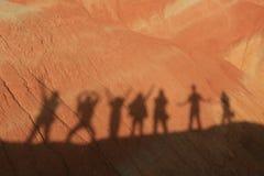 Sombras no por do sol Fotos de Stock