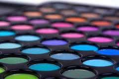 Sombras profesionales del maquillaje Imágenes de archivo libres de regalías