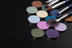 Sombras roxas com escova Imagens de Stock