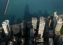 Sombras a través del lago Michigan en Chicago, Illinois Fotografía de archivo