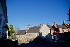 Sombras y los edificios de Alton foto de archivo libre de regalías