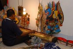 Sombree las marionetas Imágenes de archivo libres de regalías