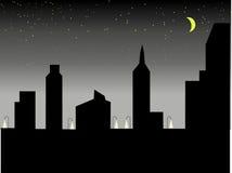 Sombreie a cidade Imagens de Stock Royalty Free