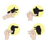 Sombreie fantoches Foto de Stock Royalty Free