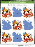 Sombreie o jogo com o saco do ` s de Santa completamente de presentes ilustração royalty free