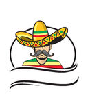 Sombreiro mexicano do caráter Imagem de Stock