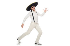 Sombreiro vestindo do homem mexicano Fotos de Stock Royalty Free