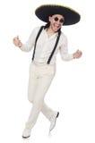 Sombreiro vestindo do homem mexicano Fotografia de Stock Royalty Free