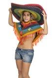 sombrero девушки стоковые изображения rf