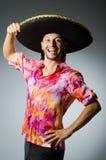 Sombrero молодого мексиканского человека нося Стоковое Фото