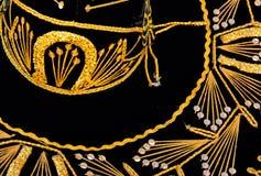 sombrero черного золота Стоковые Фотографии RF