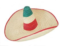 Sombrero 01. Mexican sombrero hat over white background Stock Photos
