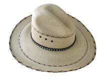 Sombrero 02. Mexican cowboy hat over white background Stock Photography