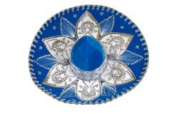 Sombrero 1. Blue, beauty sombrero from Mexico Stock Photography