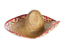 Sombrero. A common sombrero hat isolated against a white background Stock Photography