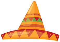 Sombrero. Illustration of isolated a sombrero straw hat stock illustration