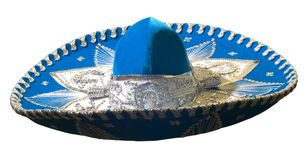 Sombrero 2. Blue, original sombreo from Mexico Stock Images