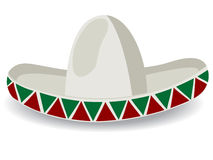 Sombrero. Mexican hat, and grouped object over white background royalty free illustration