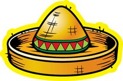 Sombrero. A yellow sombrero straw hat royalty free illustration