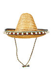 Sombrero. Traditional Mexican straw hat isolated on white background Stock Photo