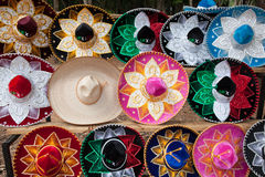 Sombrero. Colored sombrero hats from Mexico stock photography