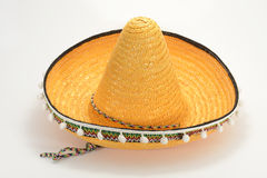 Sombrero. Mexican Straw Hat, Sombrero, isolated On White Background Stock Images