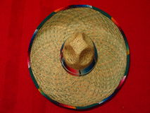 Sombrero. Top view of a Mexican hat Royalty Free Stock Image