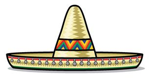 sombrero royaltyfri illustrationer