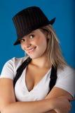 Sombrero adolescente Imagenes de archivo