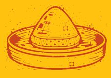 Sombrero affligé illustration libre de droits