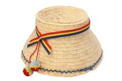Sombrero aislado tradicional rumano Fotos de archivo libres de regalías
